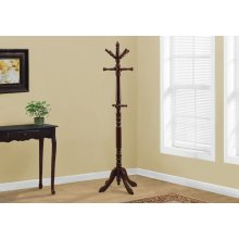 """COAT RACK - 73""""H / CHERRY WOOD TRADITIONAL STYLE"""