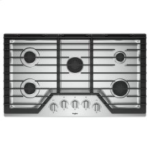 Whirlpool® 36-inch Gas Cooktop with EZ-2-Lift™ Hinged Cast-Iron Grates - Stainless Steel