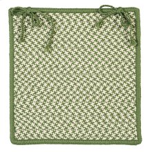 "Outdoor Houndstooth Tweed Chair Pad OT68 Leaf Green 15"" X 15"" (Set 4)"
