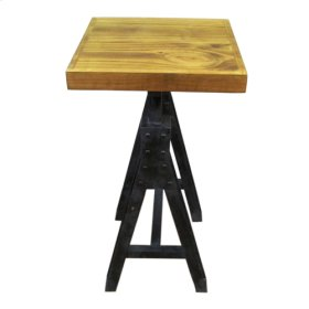 Rustic Pine Tall Side Table