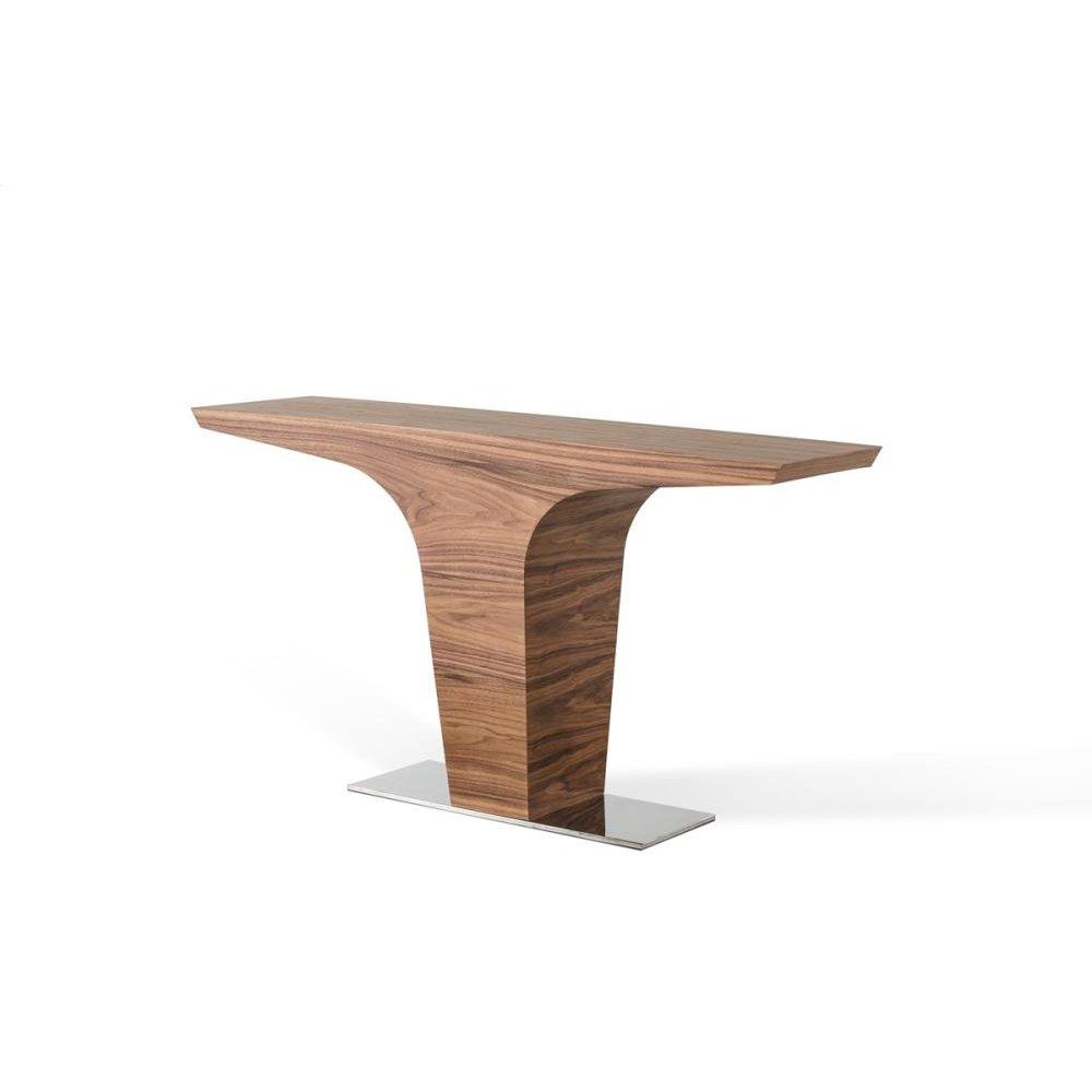 Modrest Bismarck Contemporary Walnut Console Table