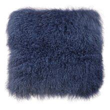 Tibetan Sheep Large Blue Pillow