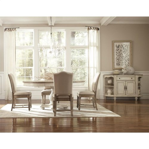 Coventry Two Tone - Table Pedestal - Dover White Finish