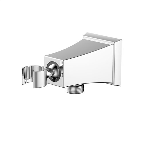 Hand Shower Wall Bracket With Outlet Leyden Series 14 Polished Chrome