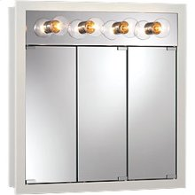 """30""""W x 30""""H - Classic White/Lighted Cabinet"""