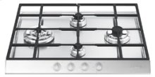 "Gas Cooktop, 60 cm (approx. 24""), Stainless Steel"