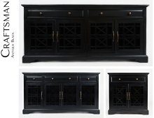 "Craftsman Antique Black 60"" Media Unit"