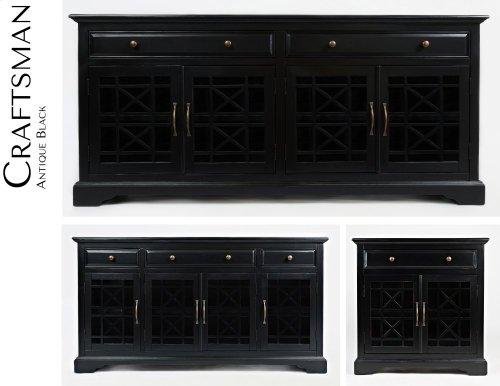 """Craftsman 70"""" Media Unit - Antique Black"""