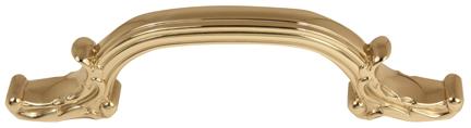 Ornate Pull A3650-4 - Polished Brass
