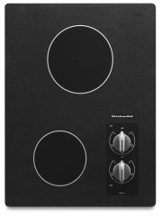 "15"" Electric Cooktop with 2 Radiant Elements - Black Product Image"