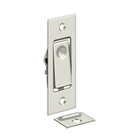Pocket Door Bolts, Jamb bolt - Polished Nickel