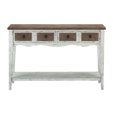 Weathered 2 Tone 2 Drawer Console Table