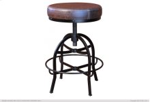 "24-30"" Adjustable Swivel Stool, with Faux Leather seat, Iron base"