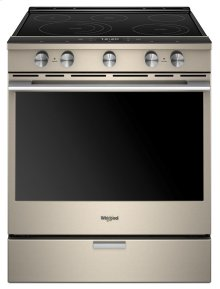 6.4 Cu. Ft. Smart Contemporary Handle Slide-in Electric Range with Frozen Bake Technology