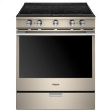 6.4 cu. ft. Smart Slide-in Electric Range with Scan-to-Cook Technology (This is a Stock Photo, actual unit (s) appearance may contain cosmetic blemishes. Please call store if you would like actual pictures). This unit carries our 6 month warranty, MANUFACTURER WARRANTY and REBATE NOT VALID with this item. ISI 32100
