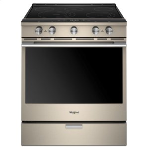 6.4 cu. ft. Smart Slide-in Electric Range with Scan-to-Cook Technology - FINGERPRINT RESISTANT SUNSET BRONZE
