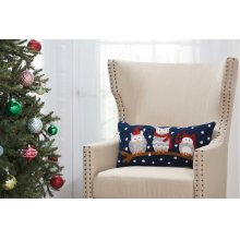 "Home for the Holiday Yx092 Multicolor 12"" X 24"" Throw Pillows"