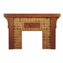 Plaque Tiles Eastwood Fireplace Mantel