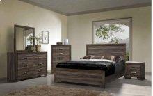 Asheville Queen Bedroom Group: Queen Bed, Nightstand, Dresser & Mirror