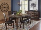 Painted Canyon Dining Table With 4 Chairs and A Bench Product Image