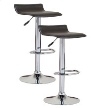 Black Adjustable Swivel Bar Stool #10042BL - Set of 2