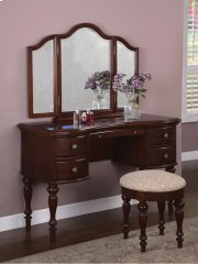 """Marquis Cherry"" Vanity, Mirror & Bench Product Image"