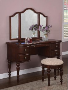 """Marquis Cherry"" Vanity, Mirror & Bench"
