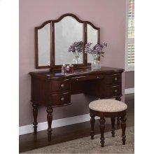 """Marquis Cherry"" Vanity, Mirror & Bench"