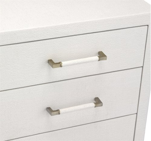 Taylor 5 Drawer Chest - White