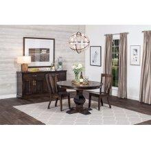 "Crawford Single Pedestal Table, Crawford Single Pedestal Table, 42"", 1-Leaf"