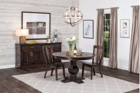 "Crawford Single Pedestal Table, Crawford Single Pedestal Table, 48"", 1-Leaf"