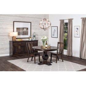 "Crawford Single Pedestal Table, Crawford Single Pedestal Table, 60"", 1-Leaf"
