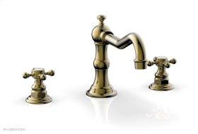 HENRI Deck Tub Set - Cross Handle 161-40 - Antique Brass