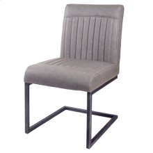 Ronan KD PU Dining Chair, Antique Graphite Gray