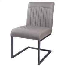 Ronan KD PU Dining Chair, Antique Graphite Gray