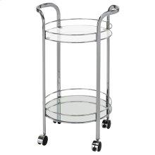 Neema 2-Tier Bar Cart in Chrome