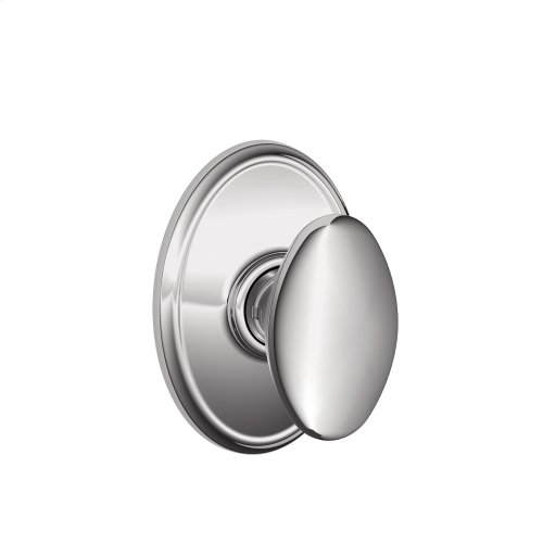 Siena Knob with Wakefield trim Hall & Closet Lock - Bright Chrome