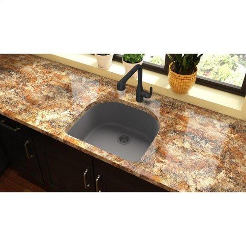 "Elkay Quartz Classic 25"" x 22"" x 8-1/2"", Single Bowl Undermount Sink, Greystone"