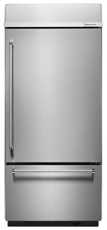"Built-In Stainless Bottom Mount Refrigerator 20.9 Cu. Ft. 36"" Width - Stainless Steel"
