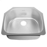 American StandardPrevoir Stainless Steel Undermount 23-3/8 Inch by 20-7/8 Inch 1-Bowl Kitchen Sink - Brushed Stainless Steel