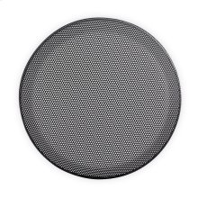 6.5 in Black Steel-Mesh Grille Insert
