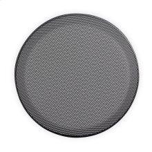 6.5 in Black Steel-Mesh Grille Insert