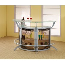 Contemporary Recreation Room Bar Unit