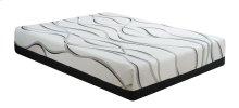 "Emerald Home Cool Jewel Mattress Starlight II 12""gel- Memory Foam King White-black W/ Grey Ribbons Es5212km"