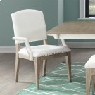 Myra - Upholstered Arm Chair - Natural Finish Product Image