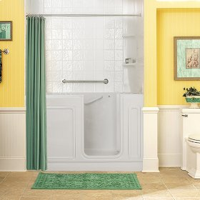 Luxury Series 32x60-inch Walk-In Tub with Combo Air Spa and Whirlpool Systems  American Standard - White