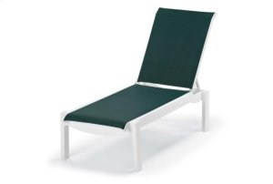 Lay-flat Stacking Armless Chaise w/ Wheels
