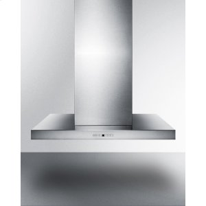 "Summit36"" Wide Island Range Hood In Stainless Steel, Made In Spain With Rectangular Canopy"