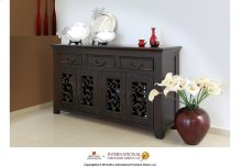63in TV Console w/3 drawers, 4 doors