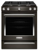 30-Inch 5-Burner Gas Slide-In Convection Range - Black Stainless Product Image
